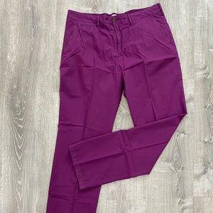 Men's Burberry Dress Pants in Purple, Like New